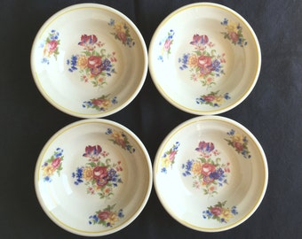 """Syracuse Colonial Hotel Restaurant 5"""" Fruit Bowls (Set of Four) Very Good Used Condition"""