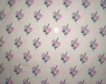 "FQ Vintage Laura Ashley Fabric -  Pink Jane - 20"" x 20"" (50 cms x 50 cms)"