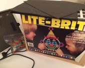 Vintage Hasbro Lite Brite With Design Pages & Pegs