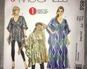 Uncut McCall's Easy Pattern M5855 - Tunic and Caftan - Batwing Very Loose Fitting Top Sizes Small & Medium