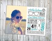 Smart Retro Glasses Grad Invite