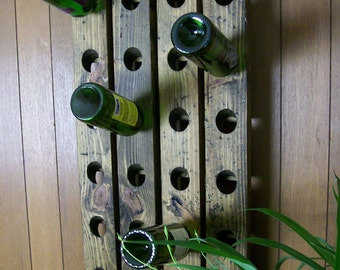 Wine Display Wall Hanging Wine Rack Reclaimed Wood