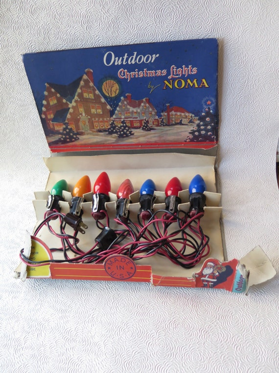 Noma Christmas Lights Working Condition 1930s String of Seven