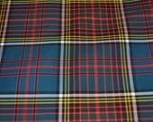 Anderson Modern tartan fabric. Poly viscose. Machine Washable. Price per half metre.