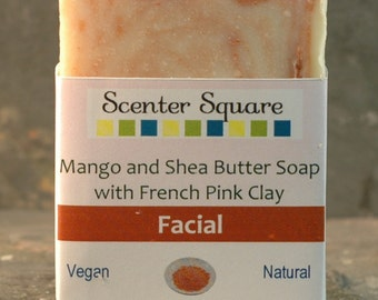 Facial Pink Clay Shea Butter Hand Made Soap