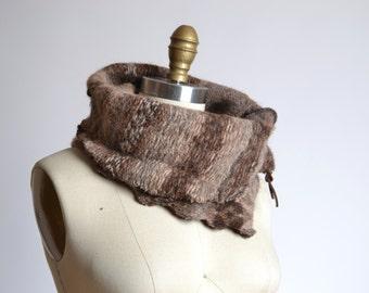 Up-cycled  Alpaca Neck Warmer  - Wool Alpaca Neck Warmer - Wool Cowl Neck Warmer - Unisex gift ideas