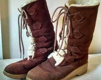 Cozy Hippie Snow Boots Rubber Sole