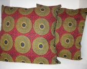 Handmade African cotton pillow covers