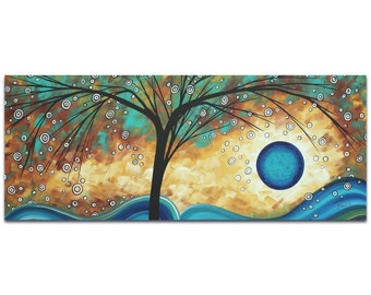 Landscape Painting 'Summer Blooms' by Megan Duncanson - Abstract Tree Art Whimsical Wall Decor on Metal or Acrylic