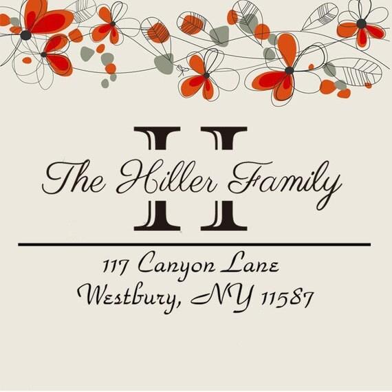 Custom Return address stamp,SELF INKING address stamp,personalized wedding address stamp,monogram address stamp,S31