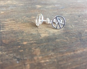 PEACE Handmade sterling silver earrings