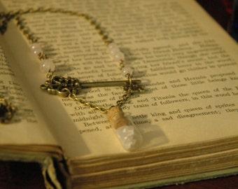 Victorian Key and Rose Quartz Necklace 365