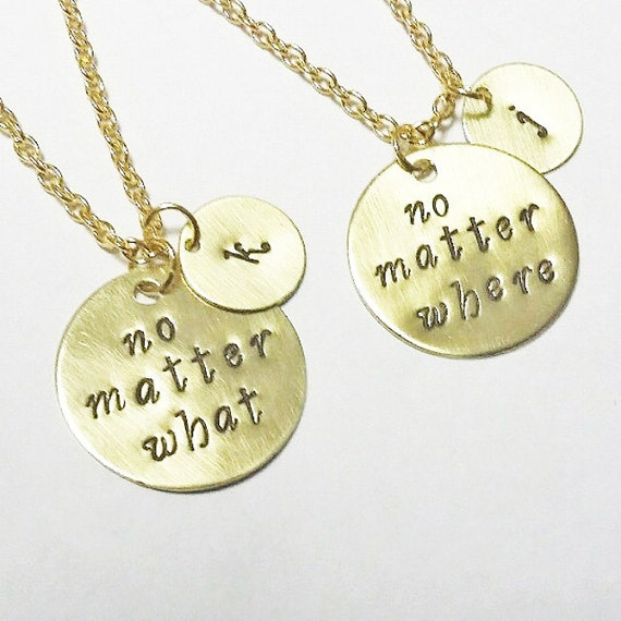 gold mother daughter necklace set