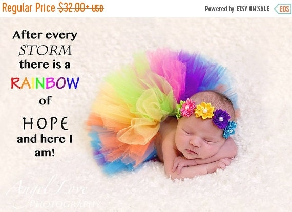 Rainbow Tulle Tutu And Headband