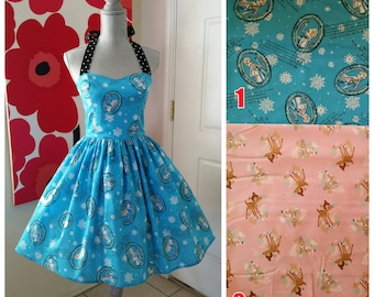 Custom Made to Order Disney Sweet Heart Dress Sz Small to 2X Elsa or Bambi