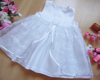 Short christening gown organza