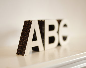 "2.5"" tall Free-Standing Cardboard Letters & Numbers"