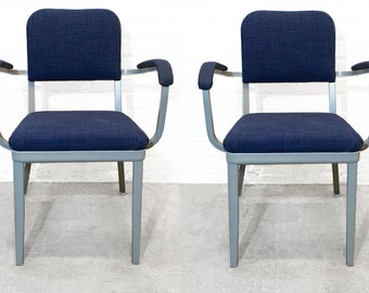 Set of Two Cole Steel Tanker Armchairs, circa 1955