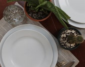 Linen Placemats in Natural Stripe