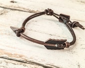 Boho Arrow Bracelet, Leather Arrow Bracelet B029