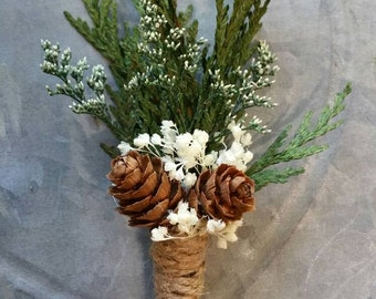 Boutonniere, Sola Wood Boutonniere, pinecone wedding, pinecone boutonniere  wood ,Weddings,groom boutonniere,  dried Boutonniere, bouquet