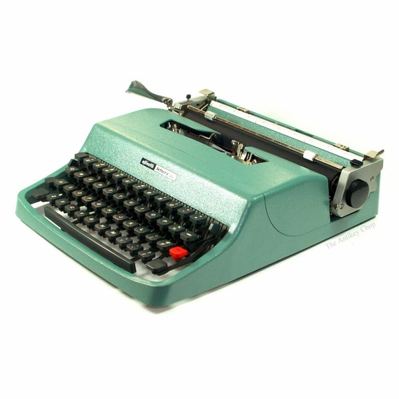 Revitalized Olivetti Lettera 32 Typewriter Professionally Refurbished Portable w/Two New Ribbons & New Platen