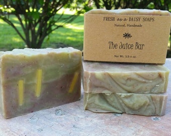 The Juice Bar, Superfood Soap, Cold Process Handmade Soap, Organic, Vegan, All Natural