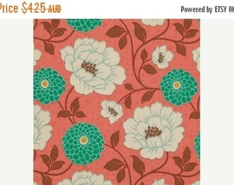 ON SALE NOW Joel Dewberry Fabric - 1 Fat Quarter Dahlia in Coral / Bungalow