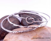 Stacking Sterling Silver Bangles Set