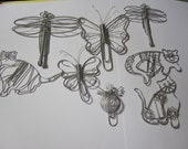 Wire Animal Paper Clips  Set