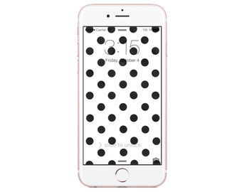 iPhone 6 - Wallpaper - Black Dots - Paper Bag