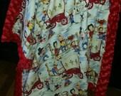 Plush Fur Baby Blanket Cowpoke Rodeo Lots of colors Carseat Blanket Crib Blanket Minky Blanket