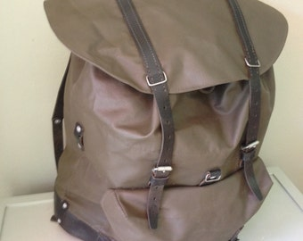Vintage swiss army backpack surplus army back military backpack green waterproof backpack