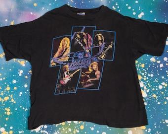 AEROSMITH 1990 PUMP North American Tour T-Shirt Men's Size XL