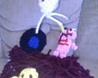 Knitted Minecraft Nether Playset