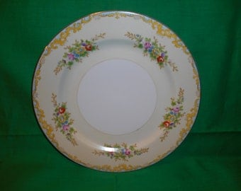 """One (1), Hand Painted, 10"""" Porcelain, Dinner Plate, from Meito China, in the MEI 18 Pattern."""