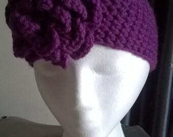 Headband. Ladies/girls. Crocheted, purple
