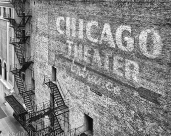 "Chicago Photography Print ""Chicago Theater Entrance"" urban photo"