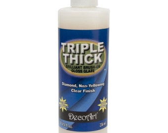 Now at lower price  New Large 8 oz. Triple Thick Brilliant Brush-On Gloss Glaze 8 oz and 2oz Triple thick none yellowing easy to apply
