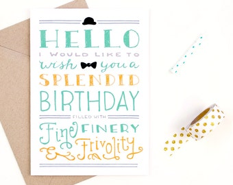 splendid birthday - birthday card - recycled paper