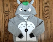 Baby/Toddler Totoro Hoodie Made to Order