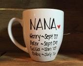 Pregnancy announcement mug, grandma mug, grandpa mug, grandparent mug, new grandparents, pregnancy reveal gift