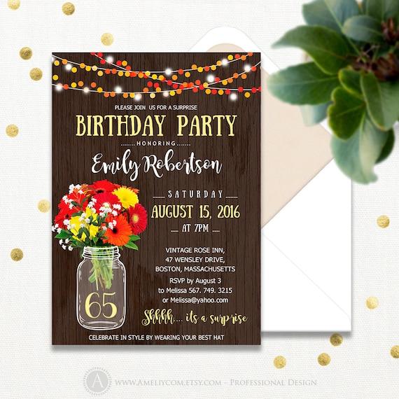 surprise birthday invitations printable adult 65th birthday, Birthday invitations