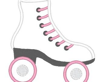 Roller Skate Applique Embroidery Design - Instant Download