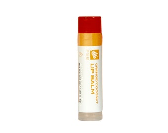 Orange/Coconut Lip Balm - Vegan - Dry Lip Care - Organic Ingredients. Certified Cruelty-Free by Leaping Bunny.