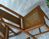Vintage Wood Caned Chair