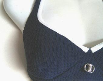 Vintage swimsuit halter tank top med lrg