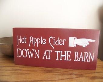 Hot Apple Cider Primitive Stencilled Sign