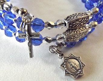 Sapphire Blue Rosary Bracelet