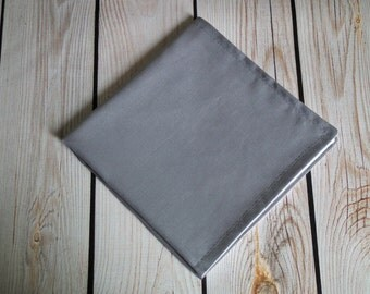 9 x 9 DARK GRAY (22cm x 22cm) cloth napkin, fabric dinner napkin, reusable, small gray napkin, made to order